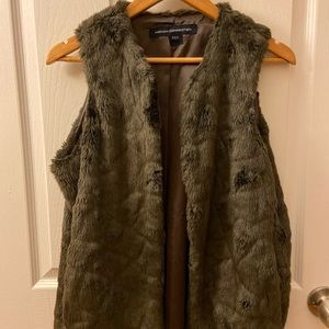 Faux Fur Vest with Pockets